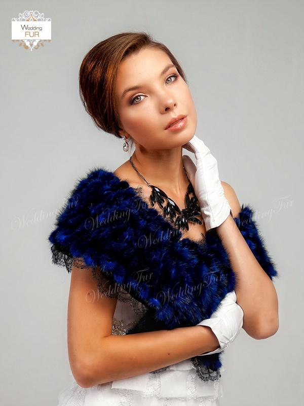 Дизайнерская накидка из норки купить Wedding fur