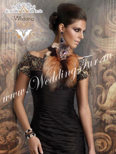 Меховая горжетка из лисы www.weddingfur.ru