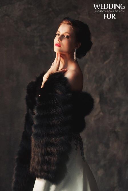 Меховые палантины из финского песца качества Luxe на вечернее платье.