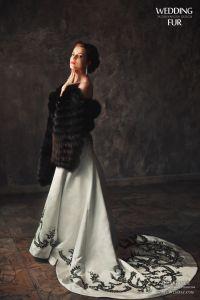 Меховые палантины на вечернее платье