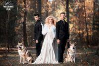 Свадебная меховая накидка на платье купить