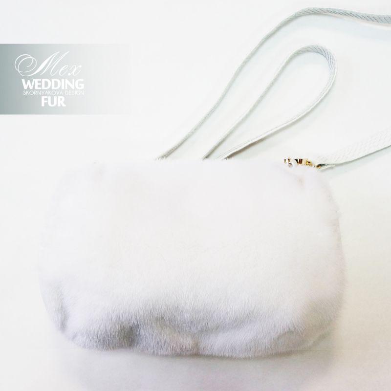 Муфта из белой норки