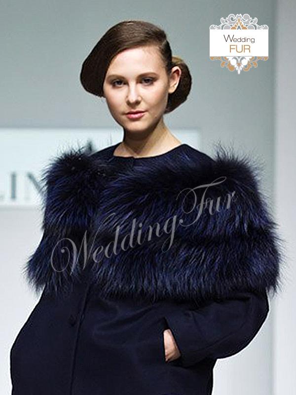 Дизайнерская горжетка из меха с показа Алины Асси Wedding fur
