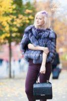 Меховые жилетки из лисы чернобурки финская Luxe
