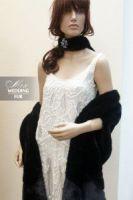 Длинный жилет из норки черного цвета от дизайн-студии меха